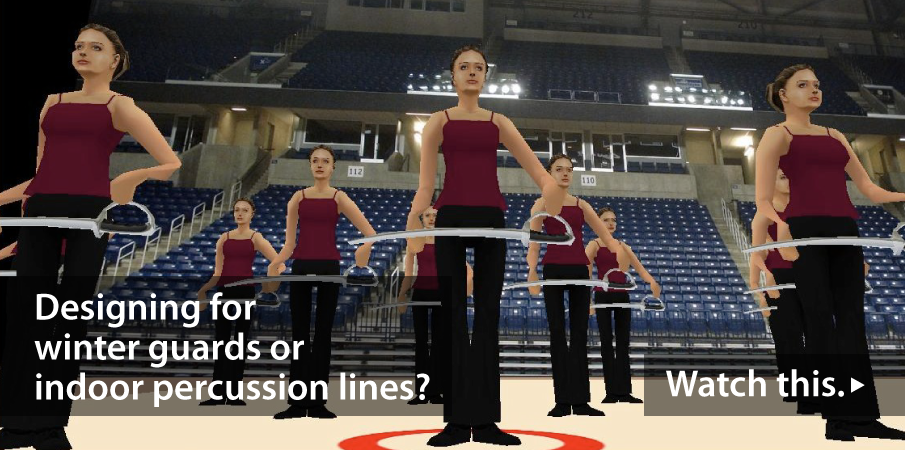 Winter guard and indoor percussion video