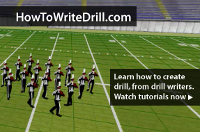 A new site for drill designers, from drill designers. HowToWriteDrill.com is a new site featuring short video tutorials from drill designers across the globe.